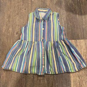 90's Baby 18-24 mos vertical stripe denim dress